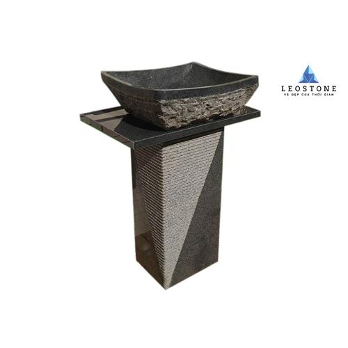 Chân Trụ Lavabo Bằng Đá Tự Nhiên - Dáng Vuông - Leo Nature Bazan Stone